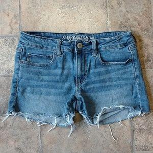American Eagle cut off raw hem festival shorts